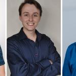 Gustavo Maldaner, de 19 anos, Lucas André Grahl da Silva, de 20 anos, e Luias Henrique Ahlert Wermann, de 21 anos, são uns dos mais jovens da região eleitos a vereador (Foto: Divulgação / Arquivo pessoal)