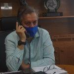Edson Brum em entrevista por telefone à Rádio Independente