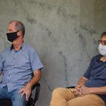 Presidente da comissão pró UTI do Hospital São José Joner Kern e o engenheiro civil da equipe técnica, Aldir De Bona (Foto: Divulgação)