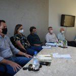 Reunião ocorreu na tarde desta quinta-feira (25) na prefeitura (Foto: Caroline Silva)