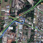 Desvio pela Rua Armin Schneider – Sentido Lajeado a Arroio do Meio (Foto: Reprodução)
