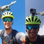 Ciclista saiu de Encantado no dia 14 de abril e pedalou durante 13 dias até o Rio de Janeiro (Foto: Arquivo pessoal / Montagem / Rádio Independente)