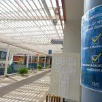 Sinalizações no pátio da escola servirão para orientar os alunos (Fotos: Gabriela Hautrive)
