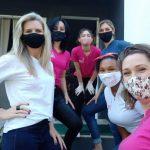 Parte das voluntárias que atuam no projeto (Foto: Divulgação)