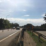 Trânsito na BR-386, na altura da ponte sobre o Arroio Boa Vista, em Estrela. Trecho teve trânsito liberado para veículos pesados (caminhões e ônibus) no sentido capital-interior (Foto: Artur Dullius)