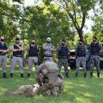 Capacitação foi ministrada pelo Batalhão de Operações Especiais (Bope) de Porto Alegre (Foto: Caroline Silva)