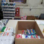 Material de higiene e alimentos estão sendo doados nesta quarta-feira (Foto: Ricardo Sander)