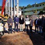 Após entrega da licença foi feita uma visita nas obras da empresa (Foto: Júlia Machado / Fepam)