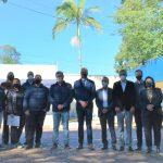 Ato reuniu membros dos governos estadual e municipal, além de representantes da empresa JBS (Foto: Gabriela Hautrive)