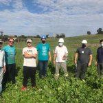 Equipe da cooperativa e da administração vistoria área que receberá projeto com potência 26,6MVA (Foto: Prefeitura de Forquetinha)