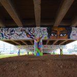 Pintura foi feita no viaduto sob a BR-386 na entrada da cidade (Foto: Gabriela Hautrive)