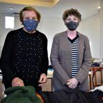 Organizadoras Glaci Maria Agostini (e) e Loeni Kraemer (Foto: Gabriela Hautrive)