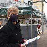 Soldado Diane Baumhardt (Foto: Caroline Silva)  Mariane Dorr da Silva participou da atividade (Foto: Caroline Silva)