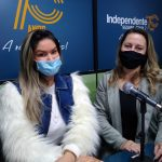 Ani Garbin e a apresentadora do Papos de Mulher, Rita de Cássia (Foto: Tiago Silva)