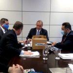 Comitiva conta com prefeito de Estrela, Elmar Schneider e demais representantes da região que tratam também sobre o turismo regional (Foto: Divulgação)