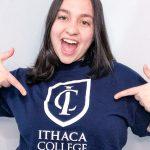 Jaqueline escolheu a Ithaca College, no Estado de Nova York, para cursar cinema (Foto: Arquivo pessoal / Divulgação)