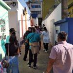 Adolescentes buscam vacinação contra a covid-19 desde as primeiras horas da manhã em Lajeado