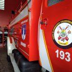 Veículo dos bombeiros voluntários de Teutônia (Foto: Artur Dullius)