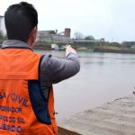 Defesa Civil monitora elevação das águas do Rio Taquari em Lajeado (Foto: Gabriela Hautrive)