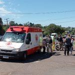 Motociclista fica ferido em acidente na BR-386, em Lajeado
