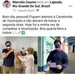 Caumo fez a postagem em suas redes sociais (Foto: Reprodução)
