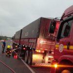 fogo roda de caminhão