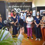 Empresas e comunidade que participaram do trabalho se fizeram presente na abertura da exposição (Foto: Gabriela Hautrive)