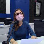 "Tamara Bischoff, jornalista e psicóloga, no quadro ""Postura Profissional"""