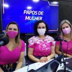 Médica e a paciente em entrevista à Aline Silva no Papos de Mulher (Foto: Tiago Silva)