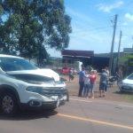 Acidente de trânsito entre camioneta e moto é registrado na Rota do Sol, em Estrela